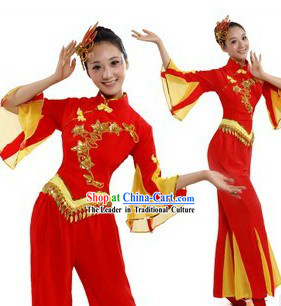Red New Year Stage Performance Dance Costume for Women