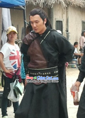 Ancient Chinese Black Knight Costumes for Men