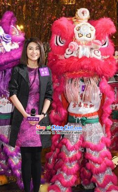 TV Show Festival and Grand Opening Celebration Top Lion Dance Costume Complete Set