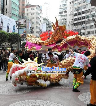 Supreme Happy Chinese Lunar New Year Dragon Head and Costumes Complete Set