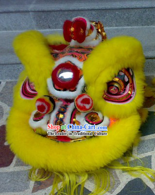 Happy Chinese New Year Handmade Hok San Lion Dance Costumes Complete Set