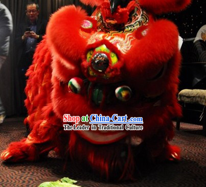 Red Festival and Opening Handmade Fut San Style Lion Dance Equipment Complete Set