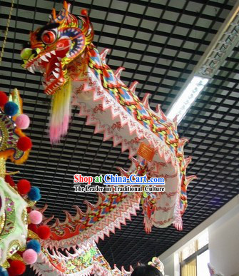 Display Hanging on the Ceiling Glow in Dark Dragon Dance Costumes Complete Set