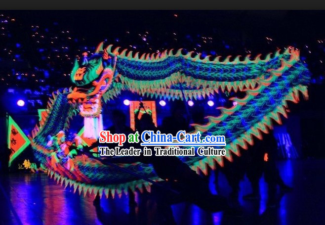 Supreme Happy Festival Celebration Fluorescent Dragon Dance Outfit Complete Set