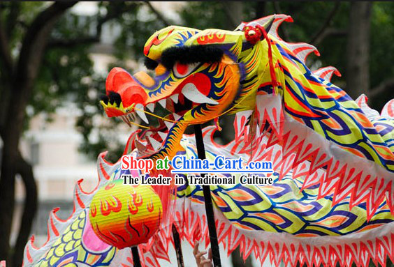 Chinese Lunar New Year Dragon Dance Performance Costume Complete Set