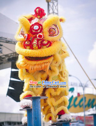 Chinese New Year Supreme Opening and Festival Celebration Lion Dance Costumes Complete Set