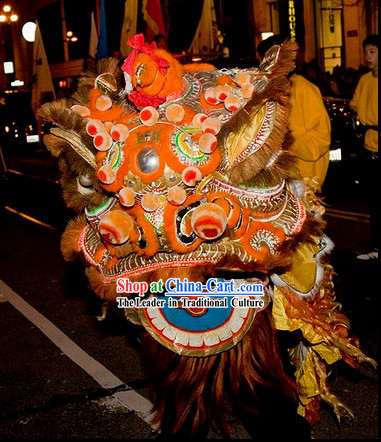 Chinese Classic Southern Futsan Lion Dance Costume Complete Set