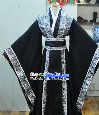 Ancient Chinese Black Robe Hanfu for Men