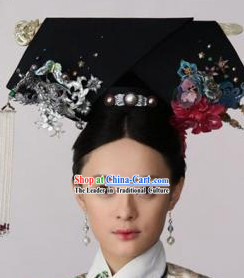 Zhen Huan Empress Imperial Hair Accessories Manchu Hat for Ladies