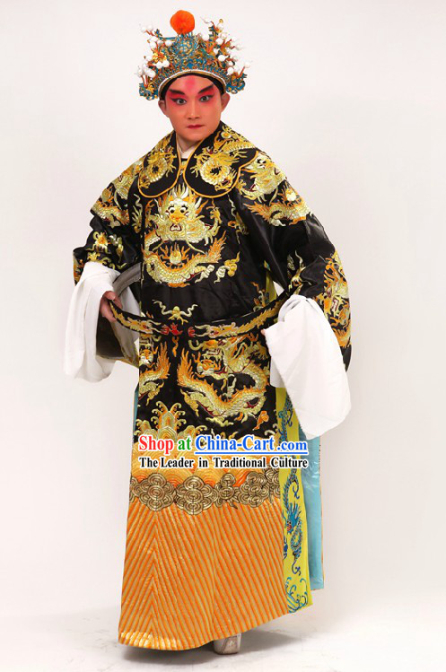 Traditional Chinese Opera Lao Sheng Dragon Robe for Men