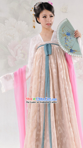 Ancient Chinese Tang Dynasty Dresses Complete Set for Women