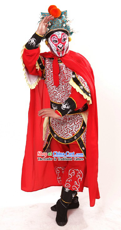 Monkey King Sun Wukong Costumes and Helmet for Men