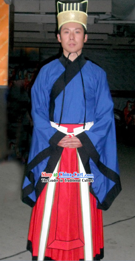 Ancient Chinese Ming Dynasty Official Clothing and Hat for Men