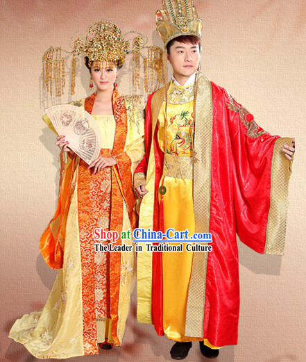 Ancient Chinese Imperial Wedding Dresses Two Complete Sets