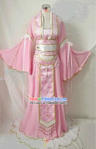 Chinese Classical Pink Guzhuang Costumes for Women