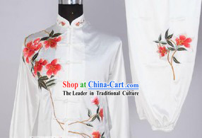 Traditional Chinese Embroidered Flower Martial Arts Outfits
