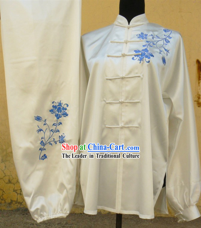 Chinese Flower Embroidery Tai Ji and Martial Arts Competition Suit