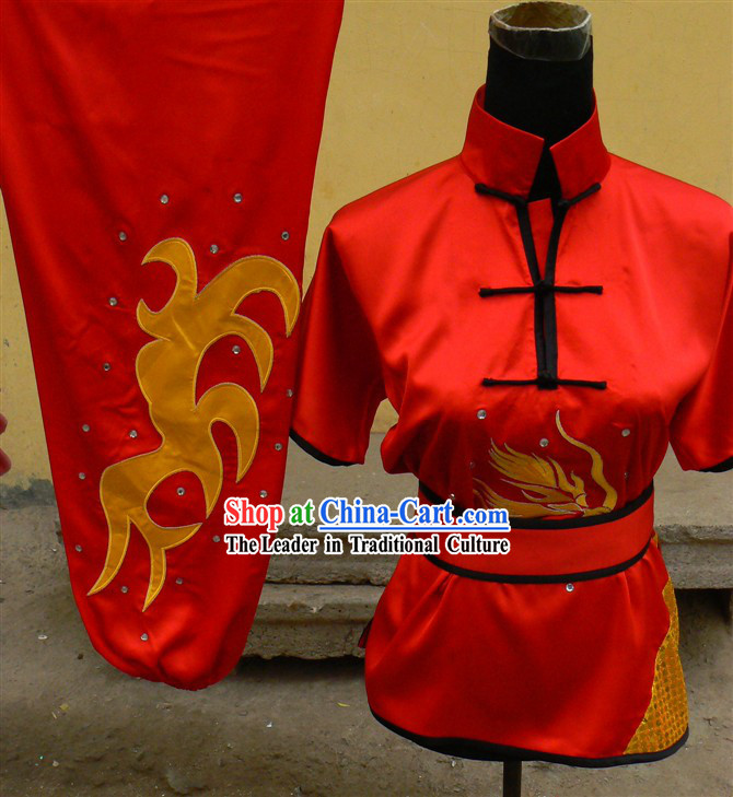 Traditional Chinese Short Sleeve Contest and Performance Nanquan Martial Arts Clothes