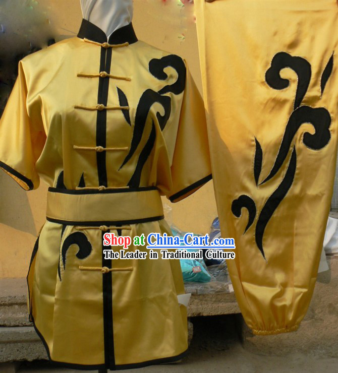 Yellow Mandarin Martial Arts Tai Ji Uniforms and Belt