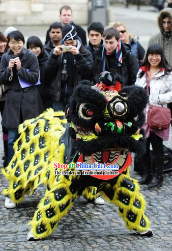 Chinese Lunar New Year Ceremony Lion Dance Equipment Complete Set