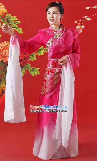 Long Sleeve Chinese Ancient Palace Dancer Zhen Huan Classical Dance Costumes Complete Set
