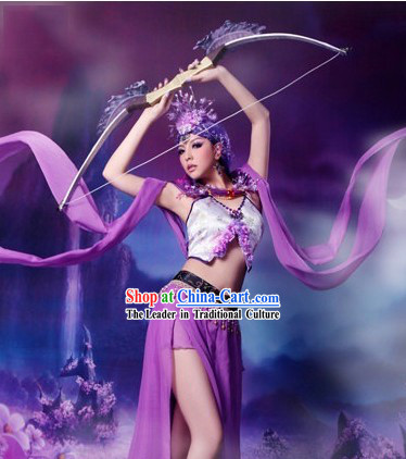 Ancient Chinese Cartoon Cosplay Fairy Costumes Complete Set for Women