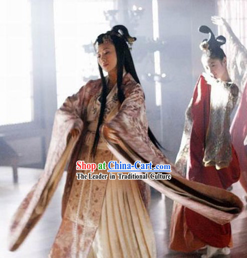 Ancient Chinese Warring States Sun Zi Da Zhuan Empress Clothing Complete Set