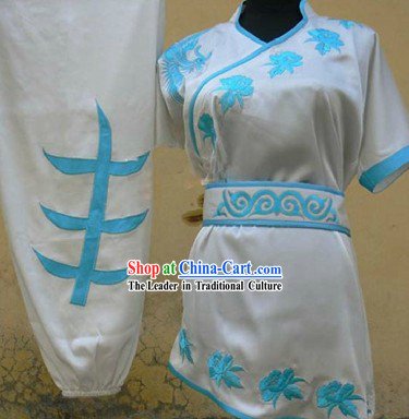 New Silk Kung Fu Martial Arts Wing Chun Tai Chi Uniform Clothes Suit for Girls