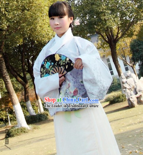 Traditional Chinese Ming Dynasty Butterfly Clothes Complete Set for Women