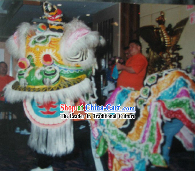 Traditional Chinese Classic Fut San Lion Dance Costume Complete Set