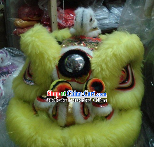 Professional Chinese Traditional Lion Dance Costumes Complete Set
