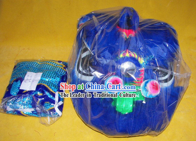 Blue Color One Person Children Size Lion Dance Costumes for Children