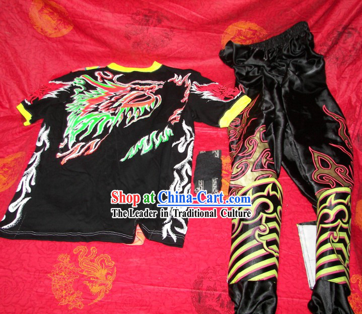 Luminous Dragon Dancer T-shirt, Pants and Leg Wrappings Set