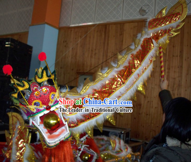 Chinese Festival Celebration Parade One Person Play Dragon Dance Props