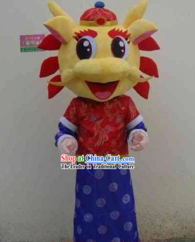 Chinese Lunar New Year Parade Walking Dragon Costume Mascots Complete Set