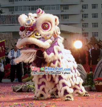 White Wool Fut San Southern Lion Dance Prop Complete Set