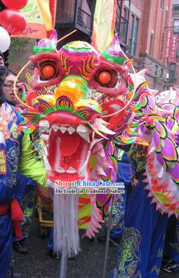 Illuminated Chinese Folk Dragon Dance Costumes Complete Set