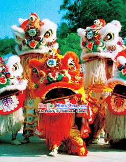 Lucky Red Chinese Lunar New Year Parade Supreme Lion Dance Costumes Complete Set