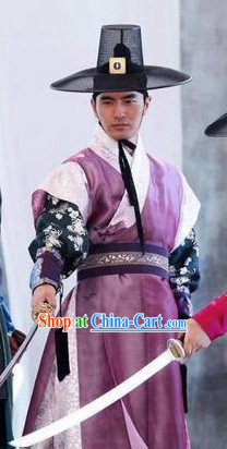 Ancient Korean The Musketeer Costumes and Hat Complete Set for Men