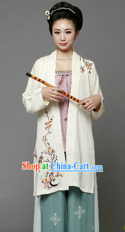 Ancient Chinese Song Dynasty Female Clothing and Hair Accessories Complete Set