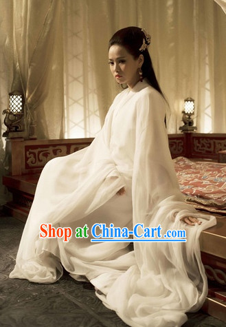 Pure White Fairy Style Traditional Costumes Complete Set