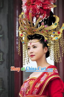 Yang Yuhuan Empress Phoenix Hair Accessories and Wig