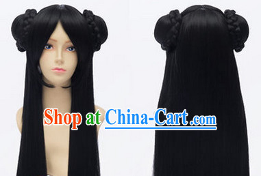 Ancient Chinese Doll Style Long Wig