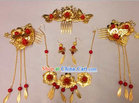 Handmade Traditional Wedding Hair Jewelry Complete Set