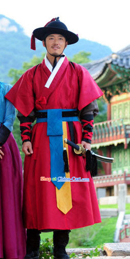 South Korean Historical Costumes and Hat for Men