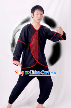 Chinese Black Kung Fu Clothes for Men