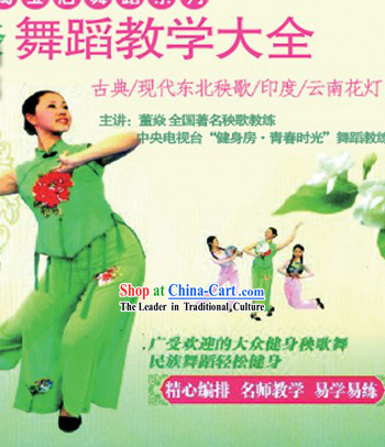 15 VCD Teaching of Chinese Classical Dance Modern Dance Dongbei Yangge Yunnan Flower Lantern Dance