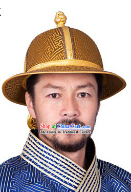Ancient Chinese Mongolian Emperor Genghis Khan Hat