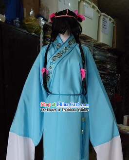 Chinese New Year Parade Shan Cai Tong Zi Zenzai Boy Costumes and Wig