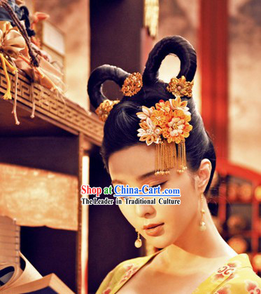 Tang Dynasty Palace Beauty Hair Accessories and Earrings